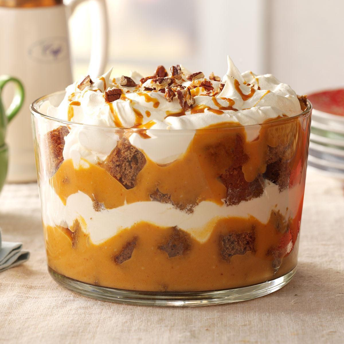 Easy Pumpkin Cream Trifle Recipe — Dishmaps