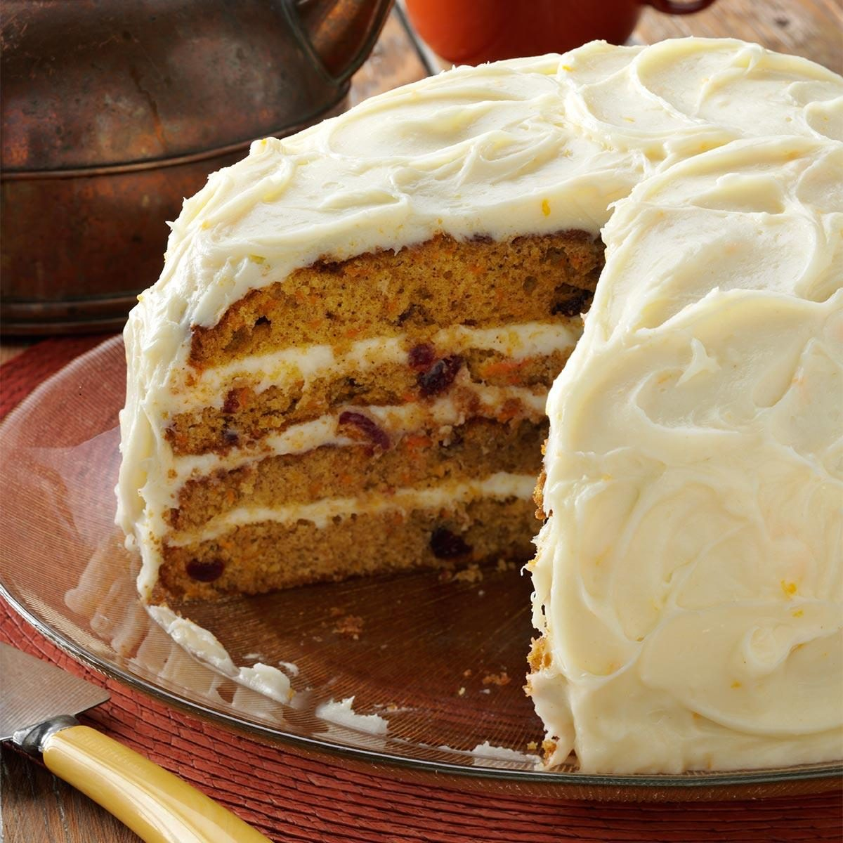 Cranberry-Carrot Layer Cake Recipe | Taste of Home