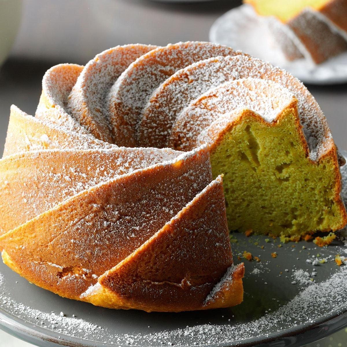 Cake Desserts Pictures Recipes : Easy Pistachio Bundt Cake Recipe Taste of Home