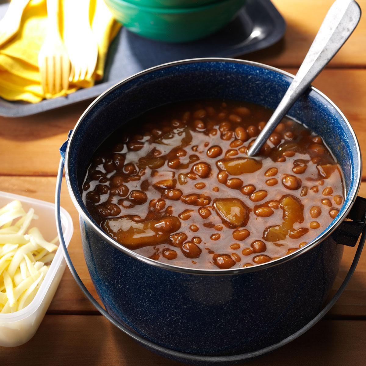 Root Beer Apple Baked Beans Recipe | Taste of Home