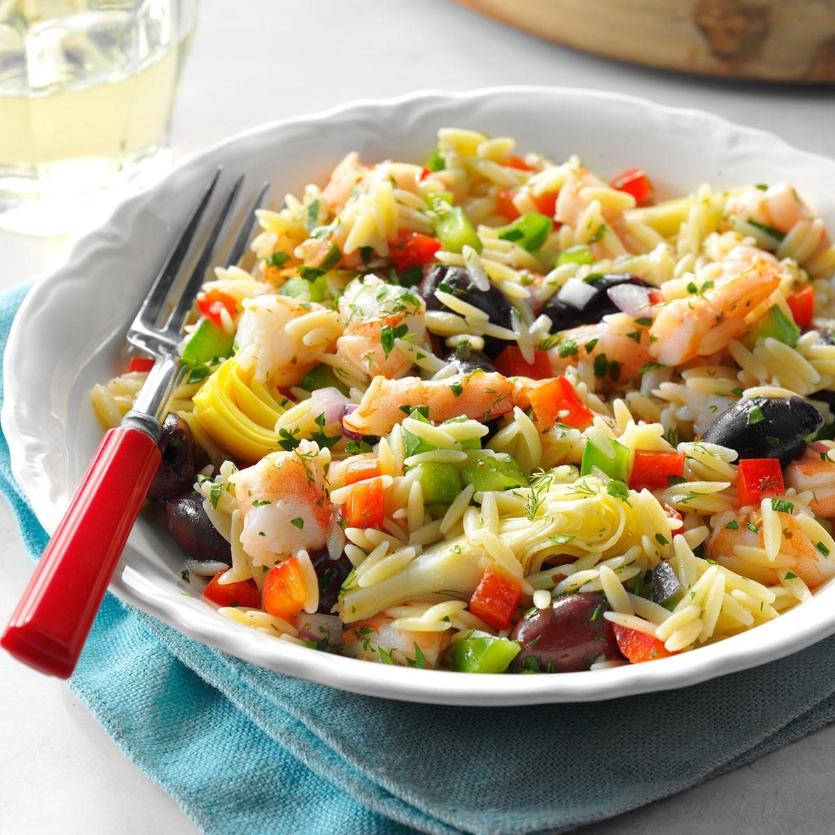 Mediterranean Shrimp Orzo Salad Recipe Taste Of Home