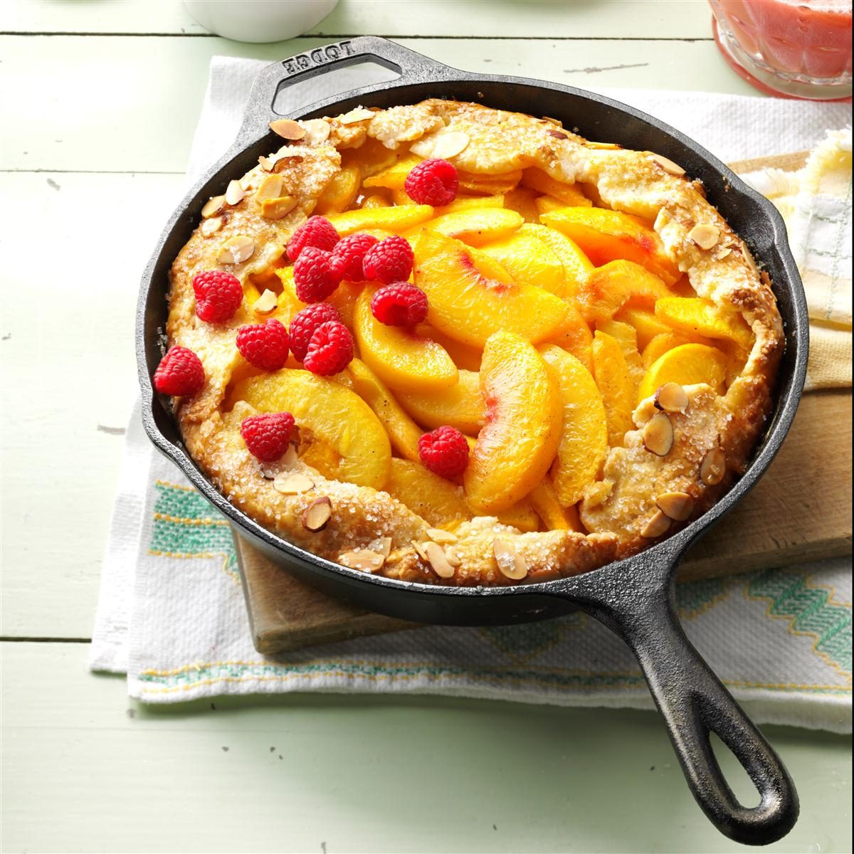 Cast-Iron Peach Crostata Recipe | Taste of Home
