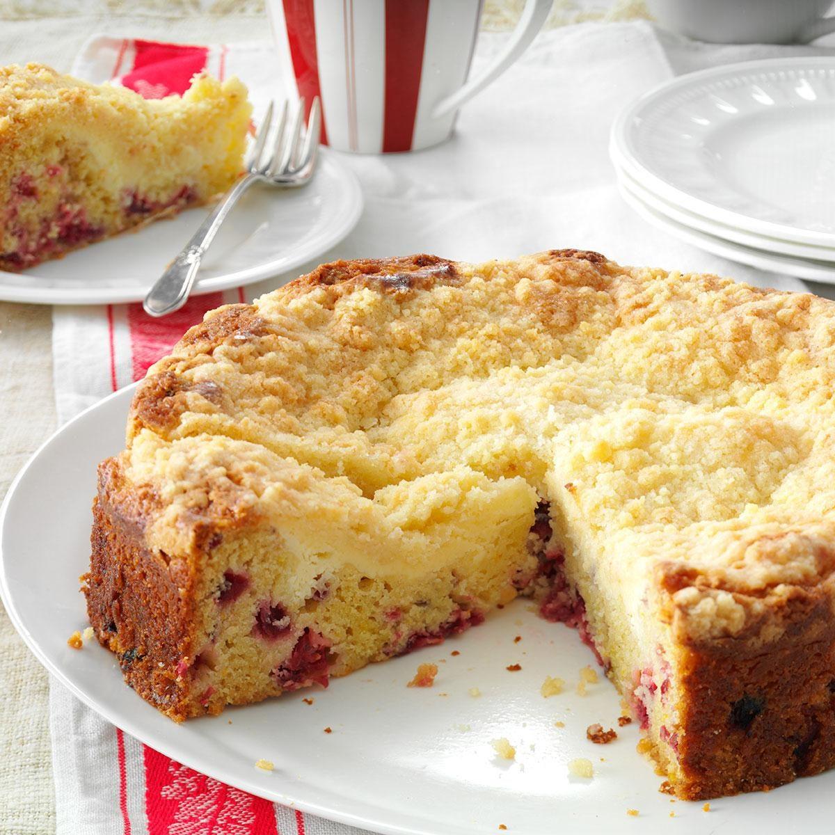 Creamy Cranberry Coffee Cake Recipe | Taste of Home