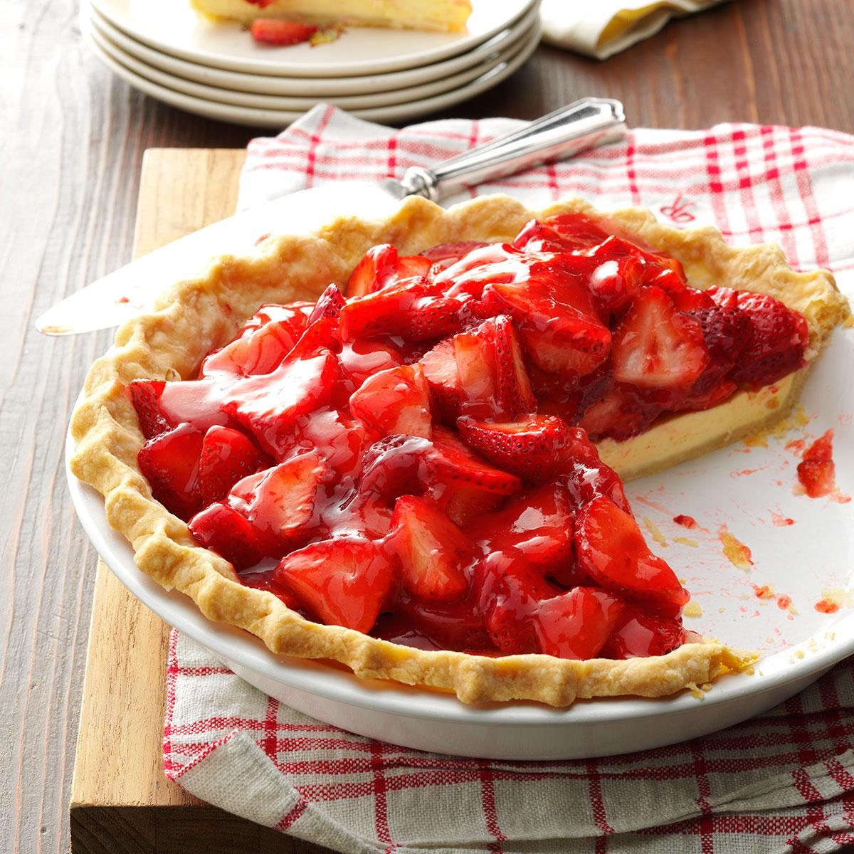 Strawberry Cream Cheese Pie Recipe | Taste of Home