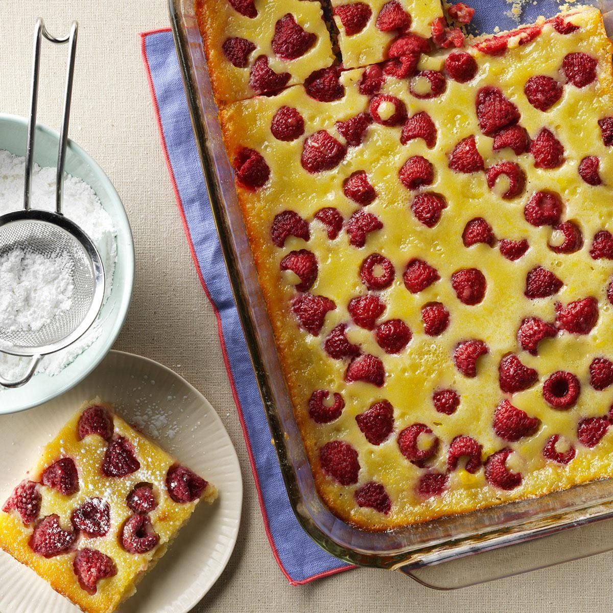 Raspberry Custard Kuchen Recipe | Taste of Home