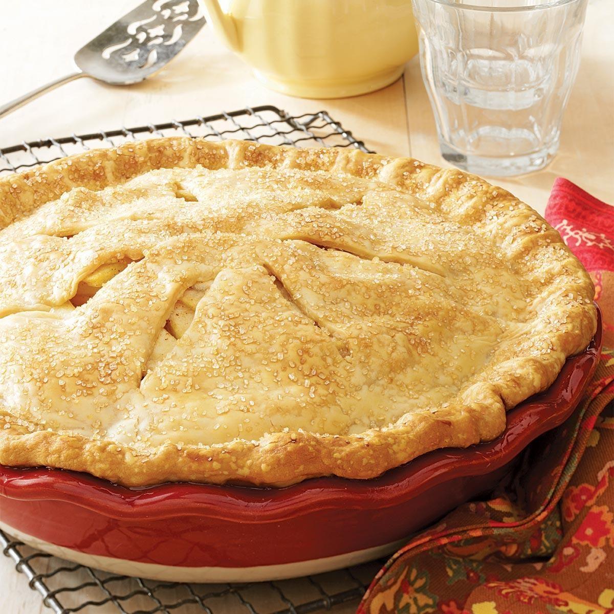 apple pear pie recipe taste of home. Black Bedroom Furniture Sets. Home Design Ideas