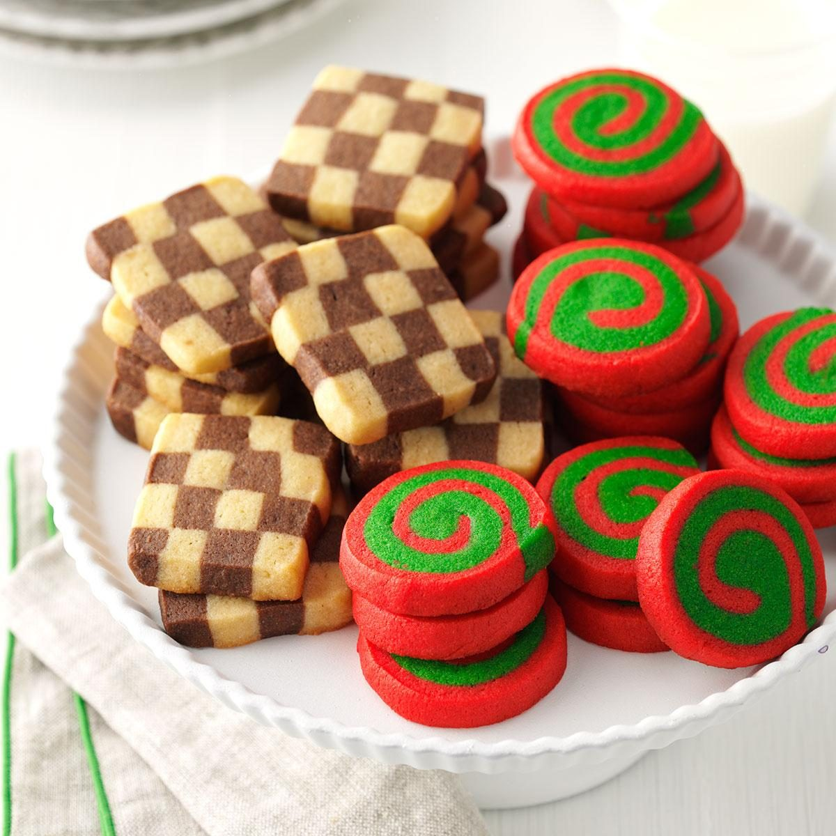 Pinwheels and checkerboards recipe taste of home for Easy holiday baking recipes for gifts