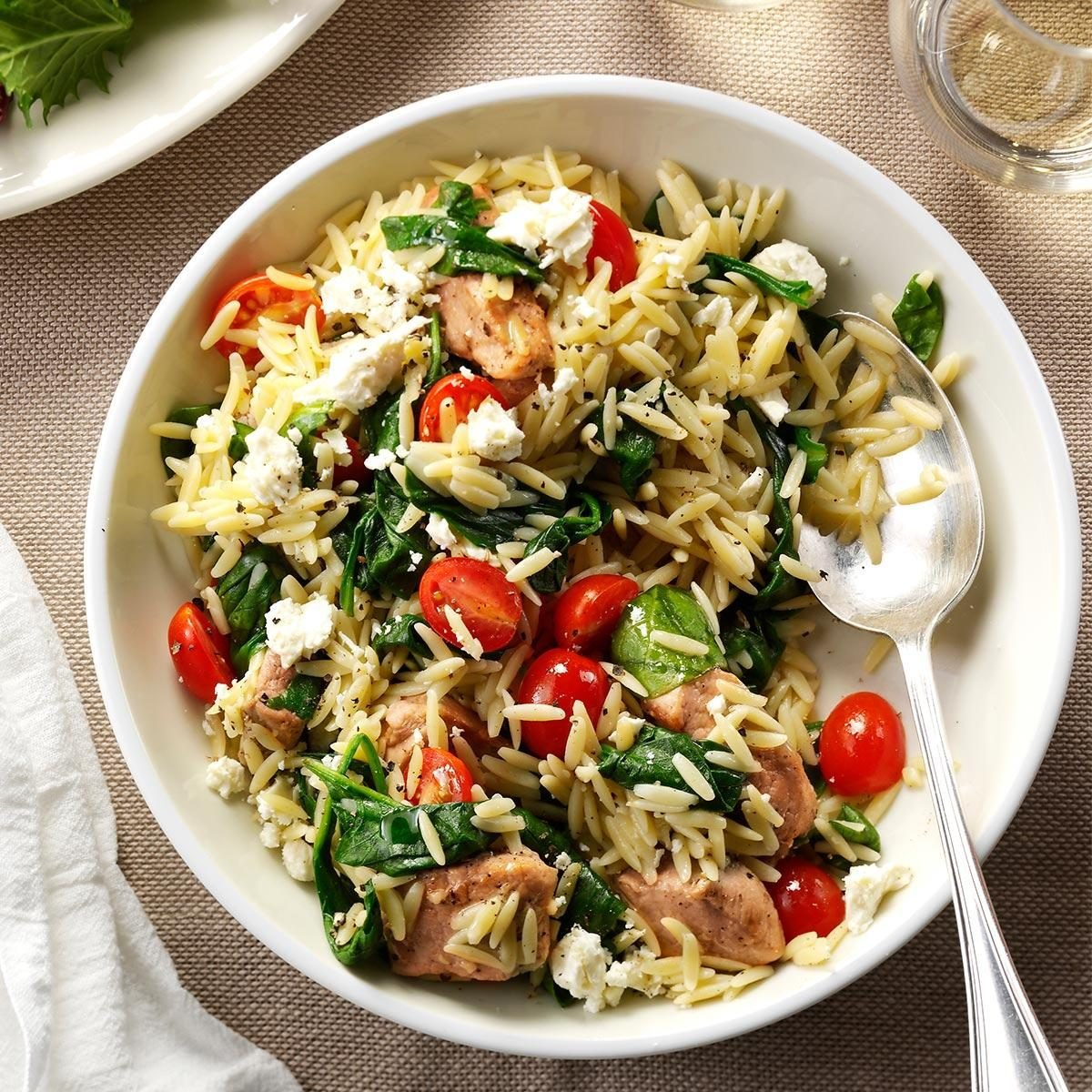 Mediterranean Pork And Orzo Recipe Taste Of Home