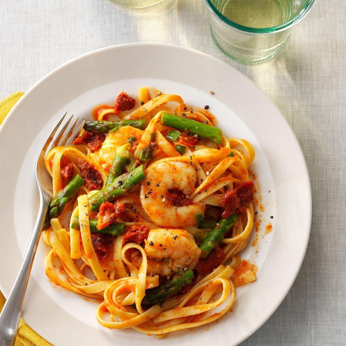Mediterranean Shrimp 'n' Pasta Recipe