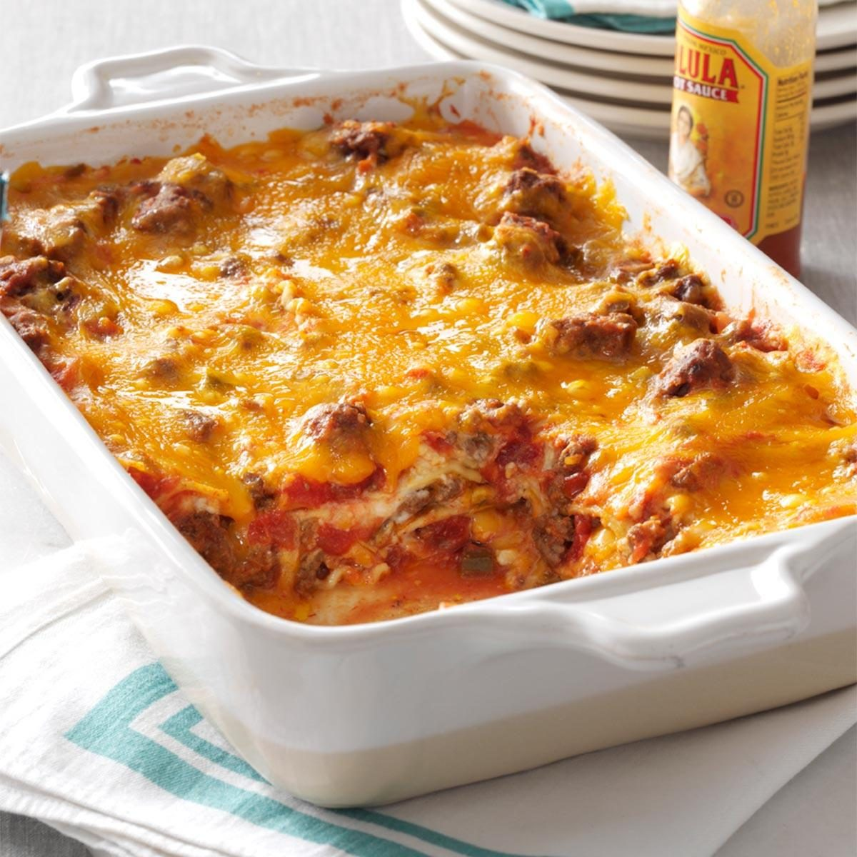 Beef Taco Lasagna Recipe | Taste of Home