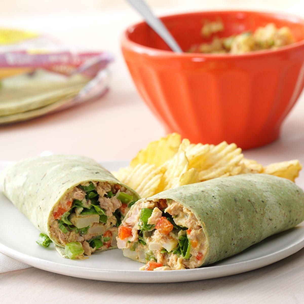Crunchy Tuna Wraps Recipe Taste Of Home