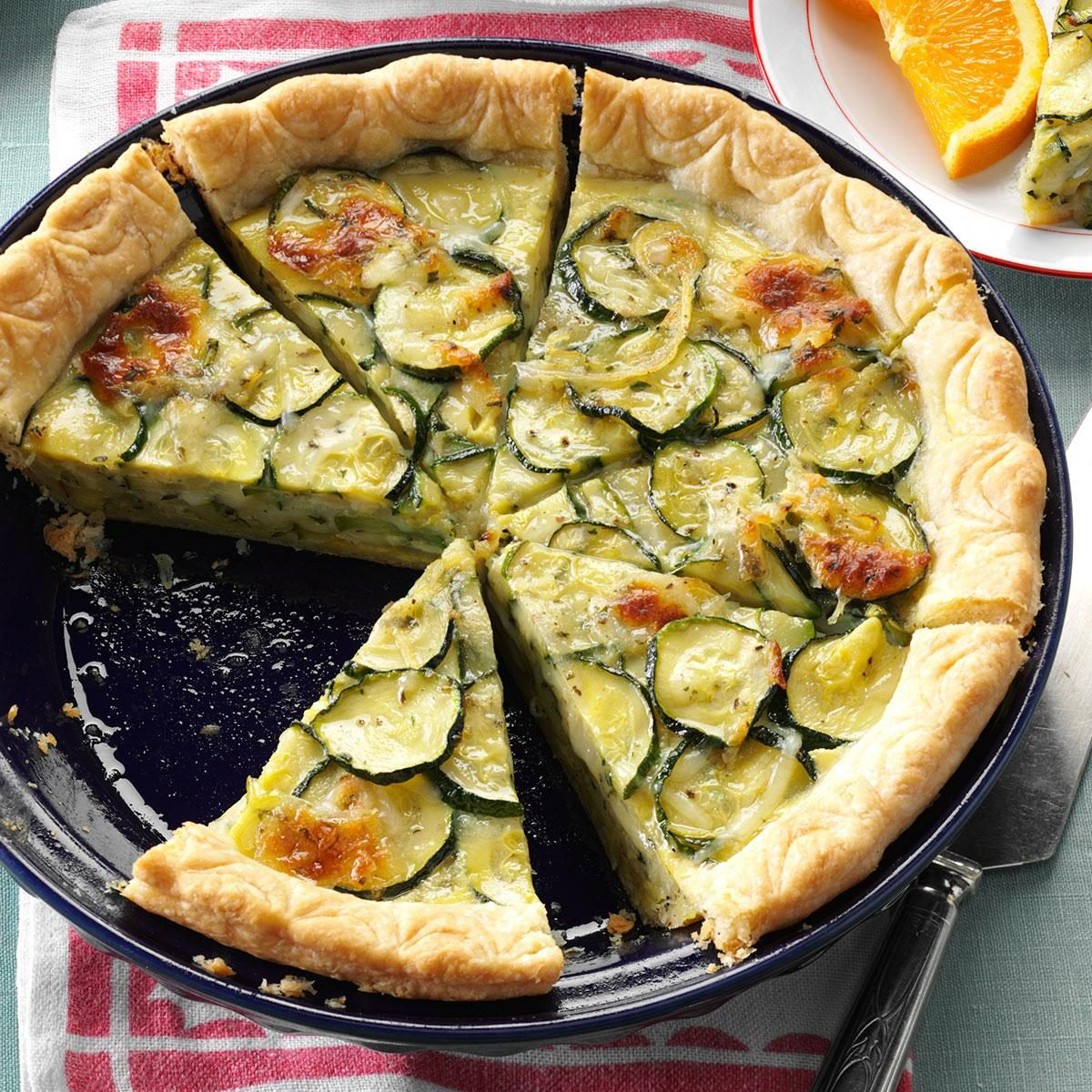 cheesy zucchini quiche recipe taste of home. Black Bedroom Furniture Sets. Home Design Ideas