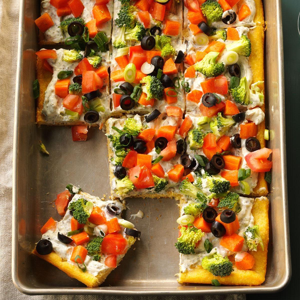 Dilly Veggie Pizza Recipe