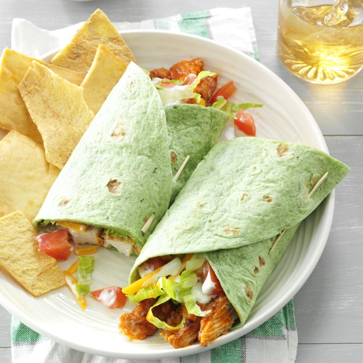 Buffalo Chicken Wraps Recipe | Taste of Home