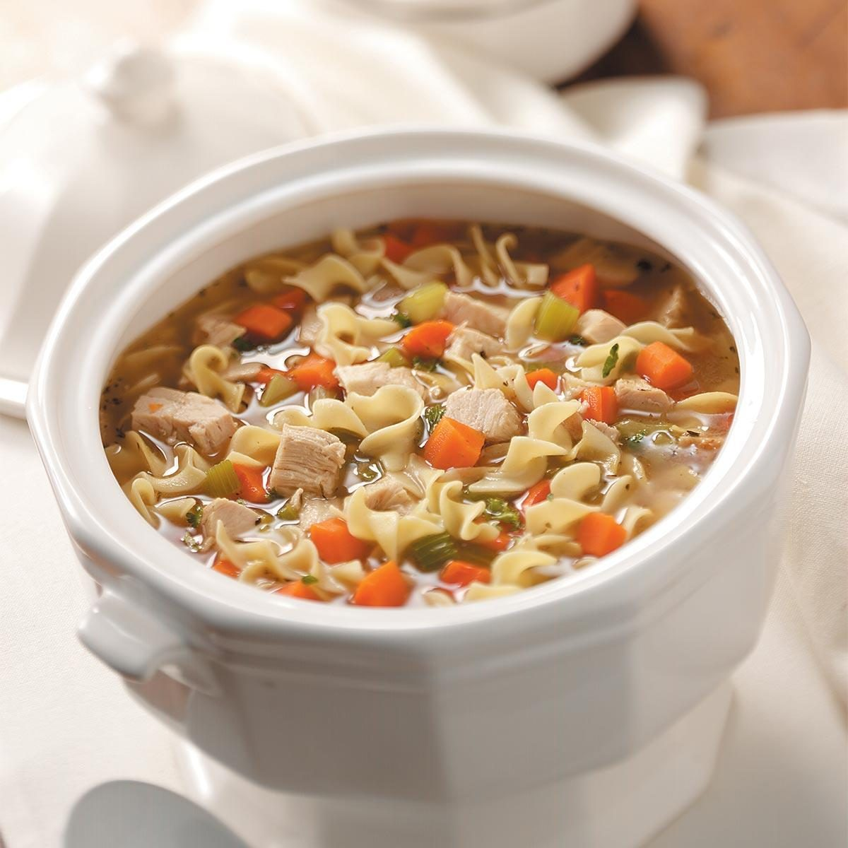 Old-Fashioned Turkey Noodle Soup Recipe | Taste of Home