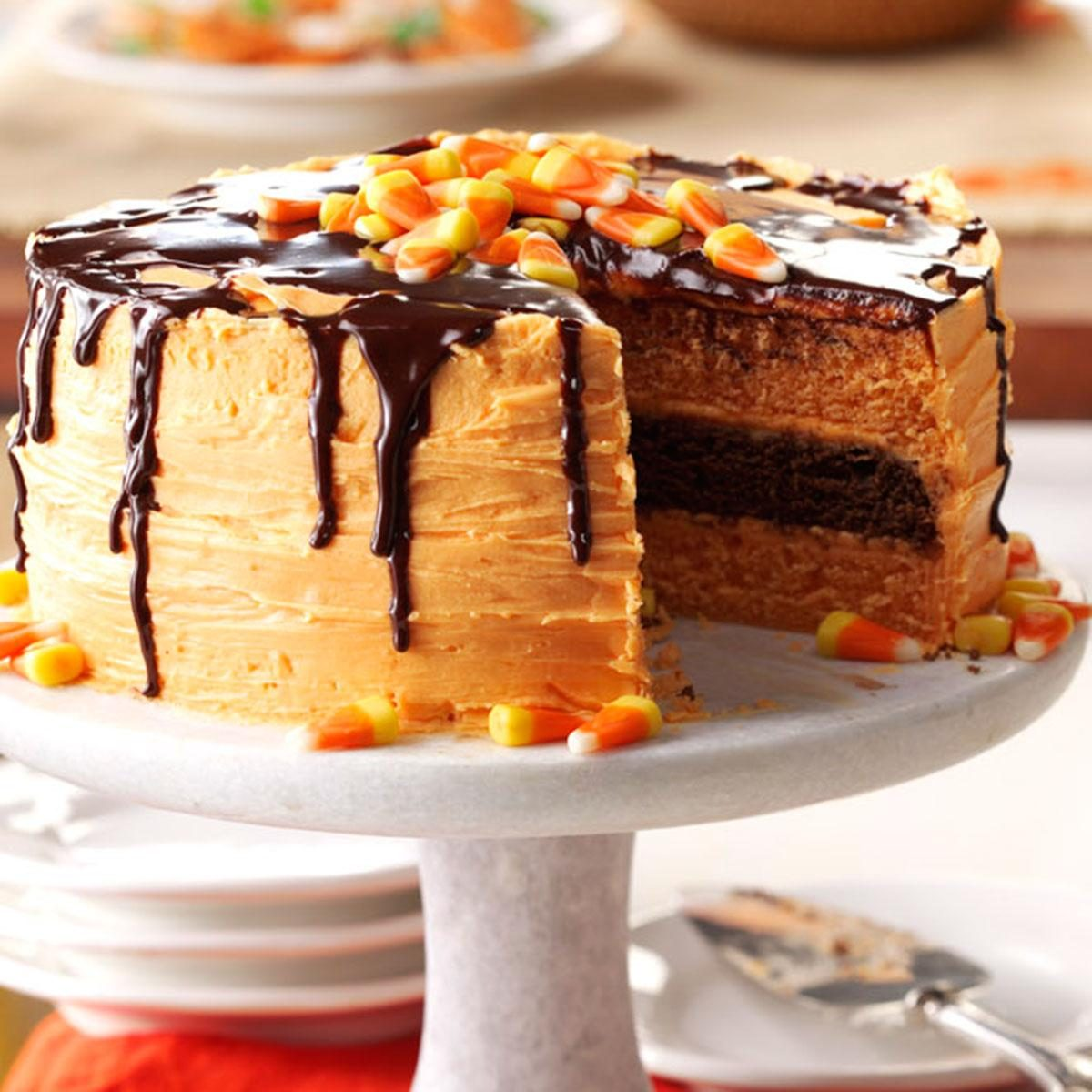 19 scary good halloween cake recipes taste of home halloween layer cake