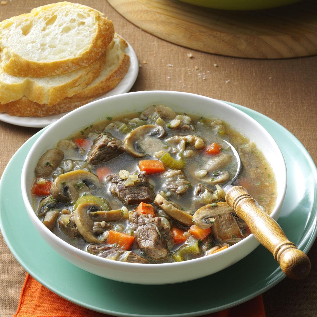 Mushroom Barley Soup Recipe | Taste of Home