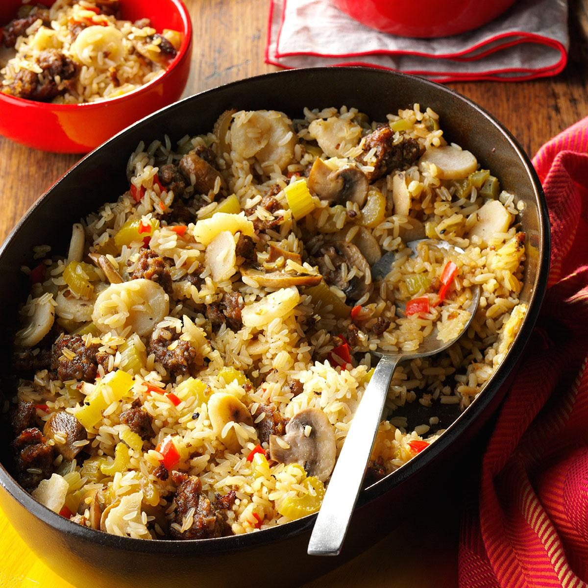 Sausage And Rice Casserole Side Dish Recipe Taste Of Home