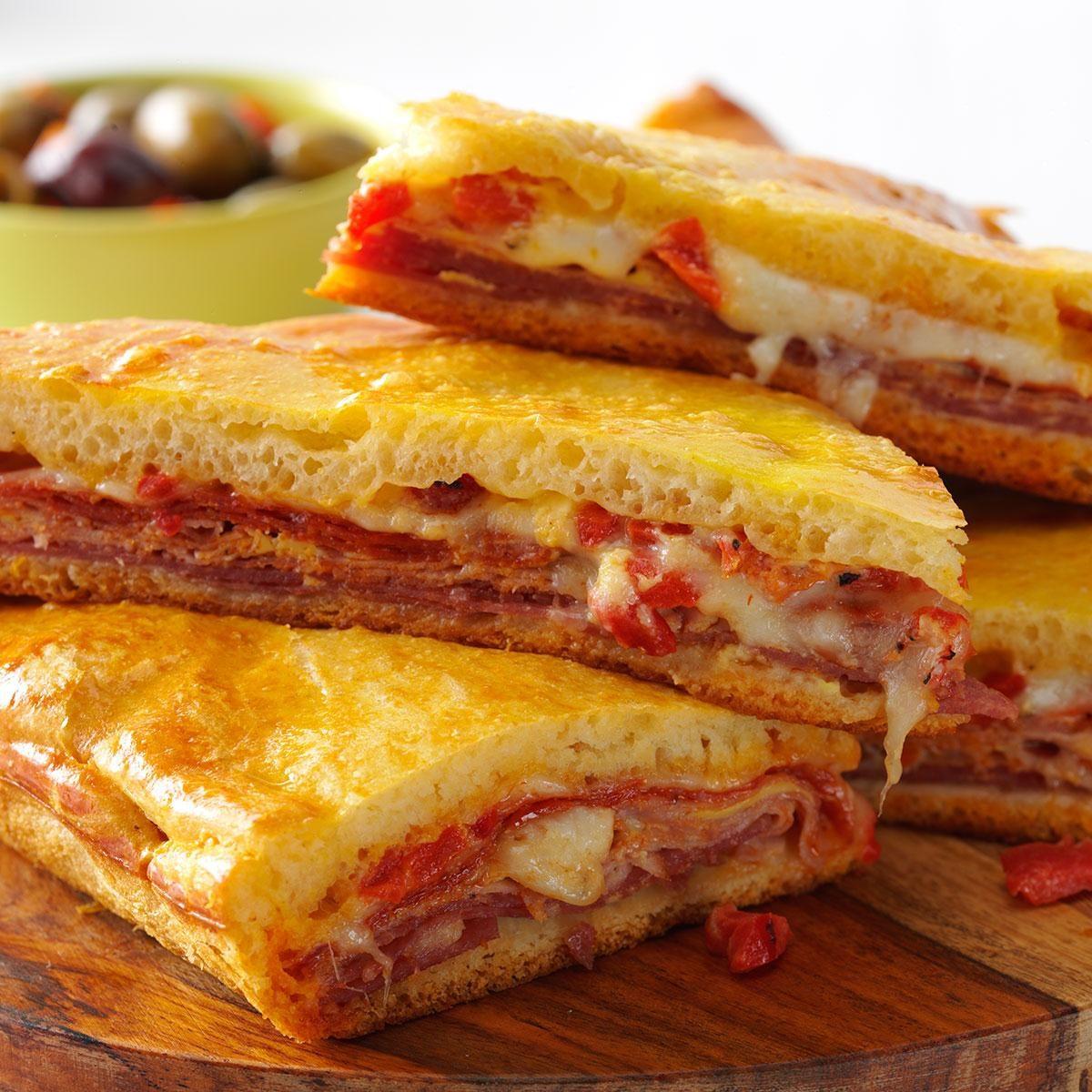 Simple Sandwich Recipes: Hot Antipasto Sandwiches Recipe