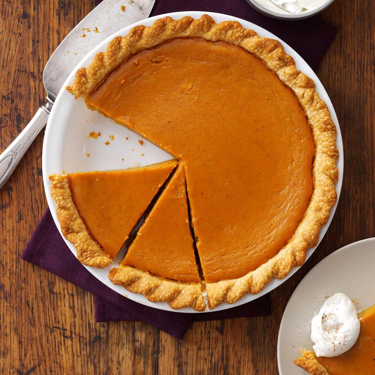 Maple Sugar Pumpkin Pie Recipe | Taste of Home