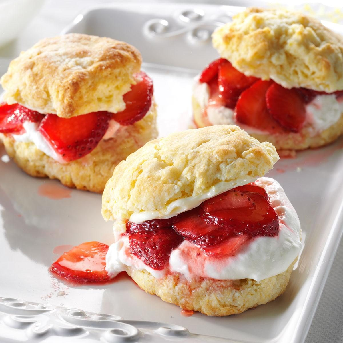Strawberry Shortcake Biscuit Or Cake