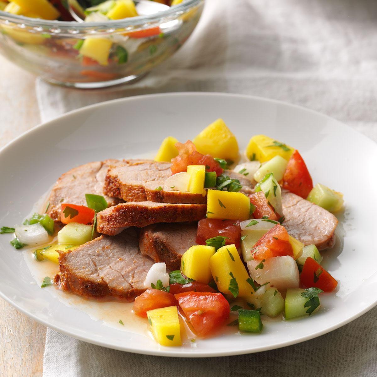 Pork Tenderloin with Mango Relish Recipe | Taste of Home