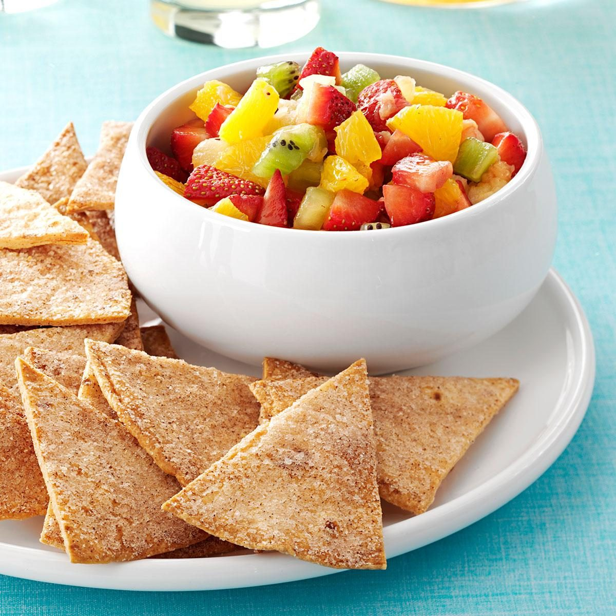 Fruit Salsa with Cinnamon Chips Recipe | Taste of Home