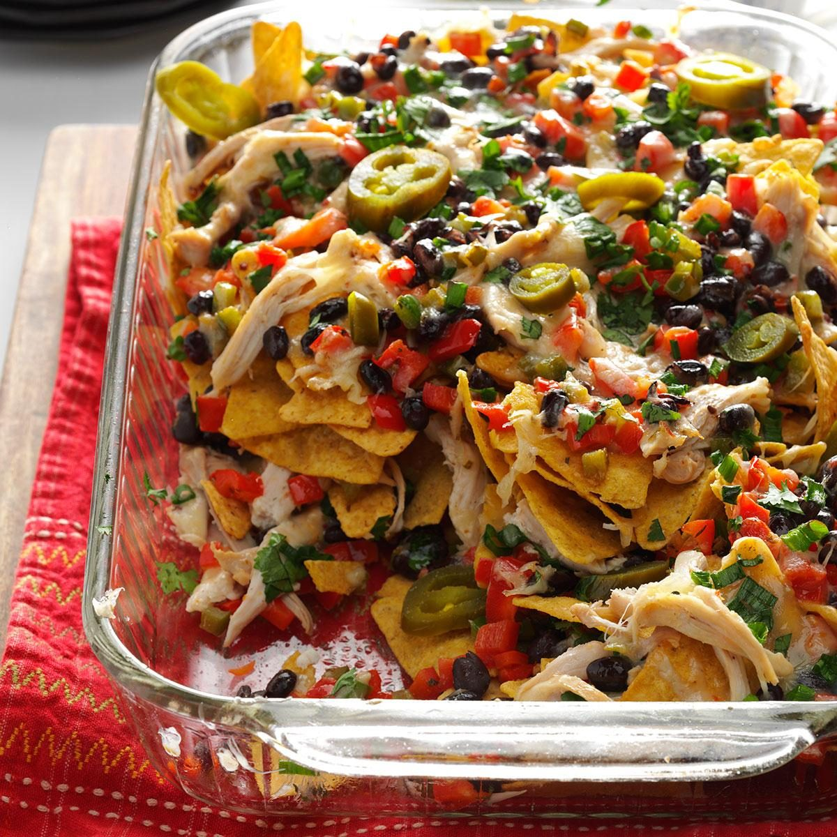 Baked Chicken Nachos Recipe