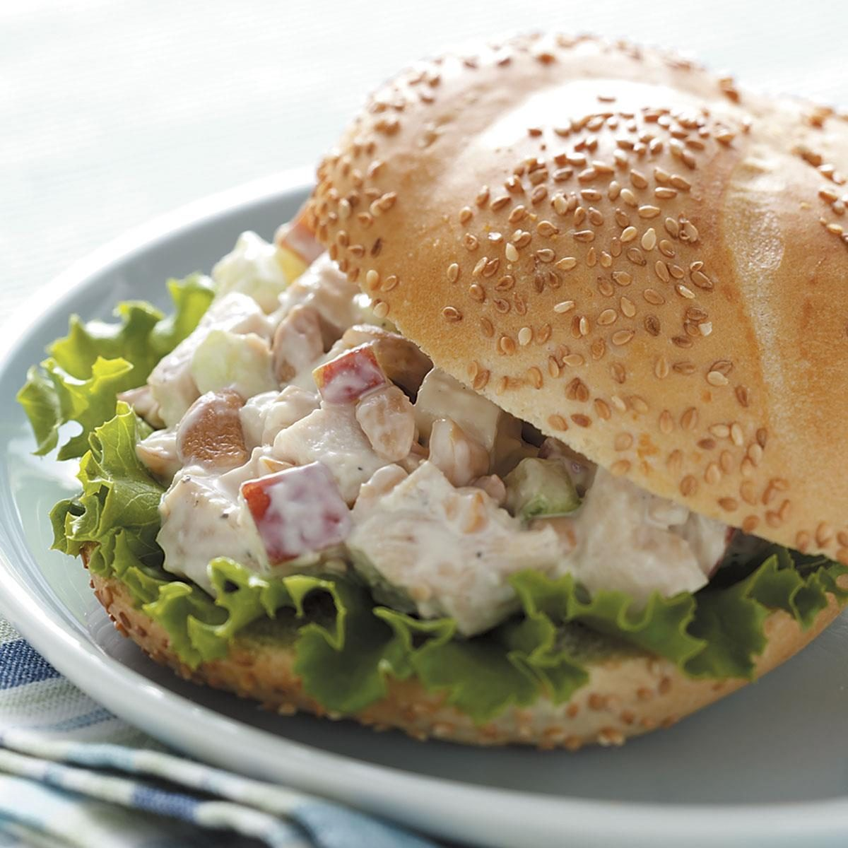 Cashew Chicken Salad Sandwiches Recipe | Taste of Home