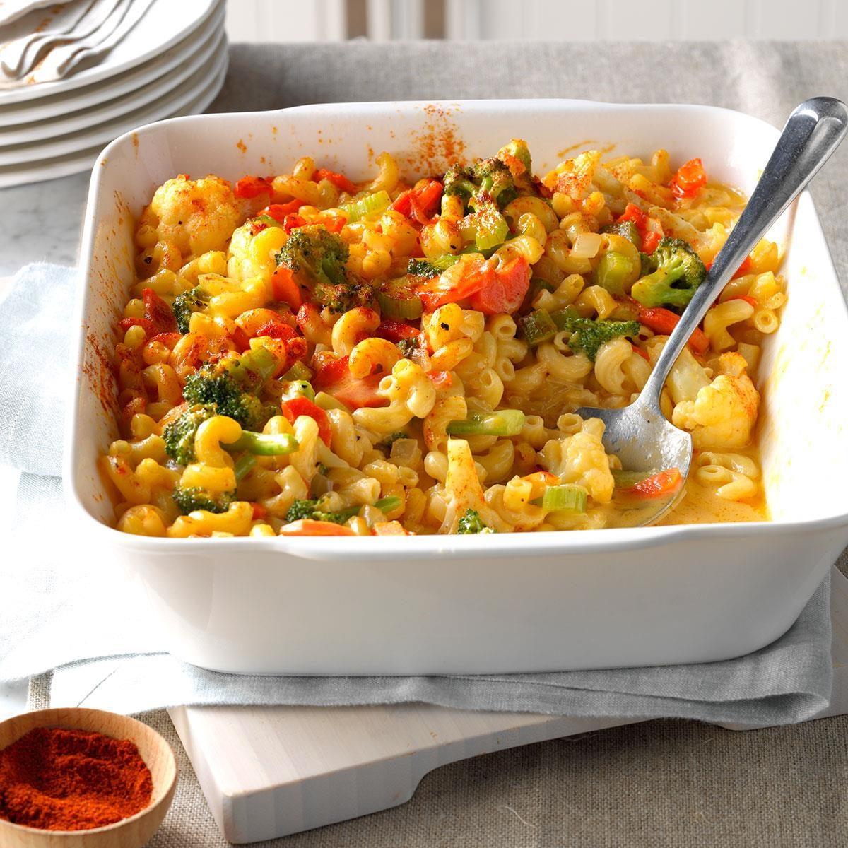 Veggie Macaroni Amp Cheese Recipe Taste Of Home