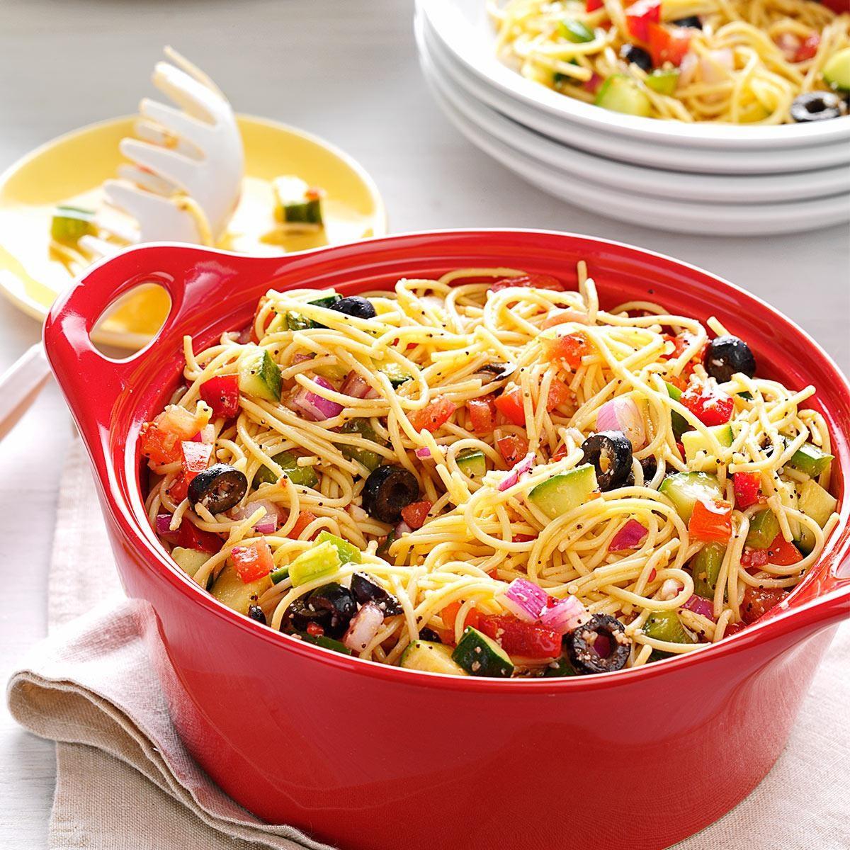 California pasta salad recipe taste of home for Cold pasta salad ideas