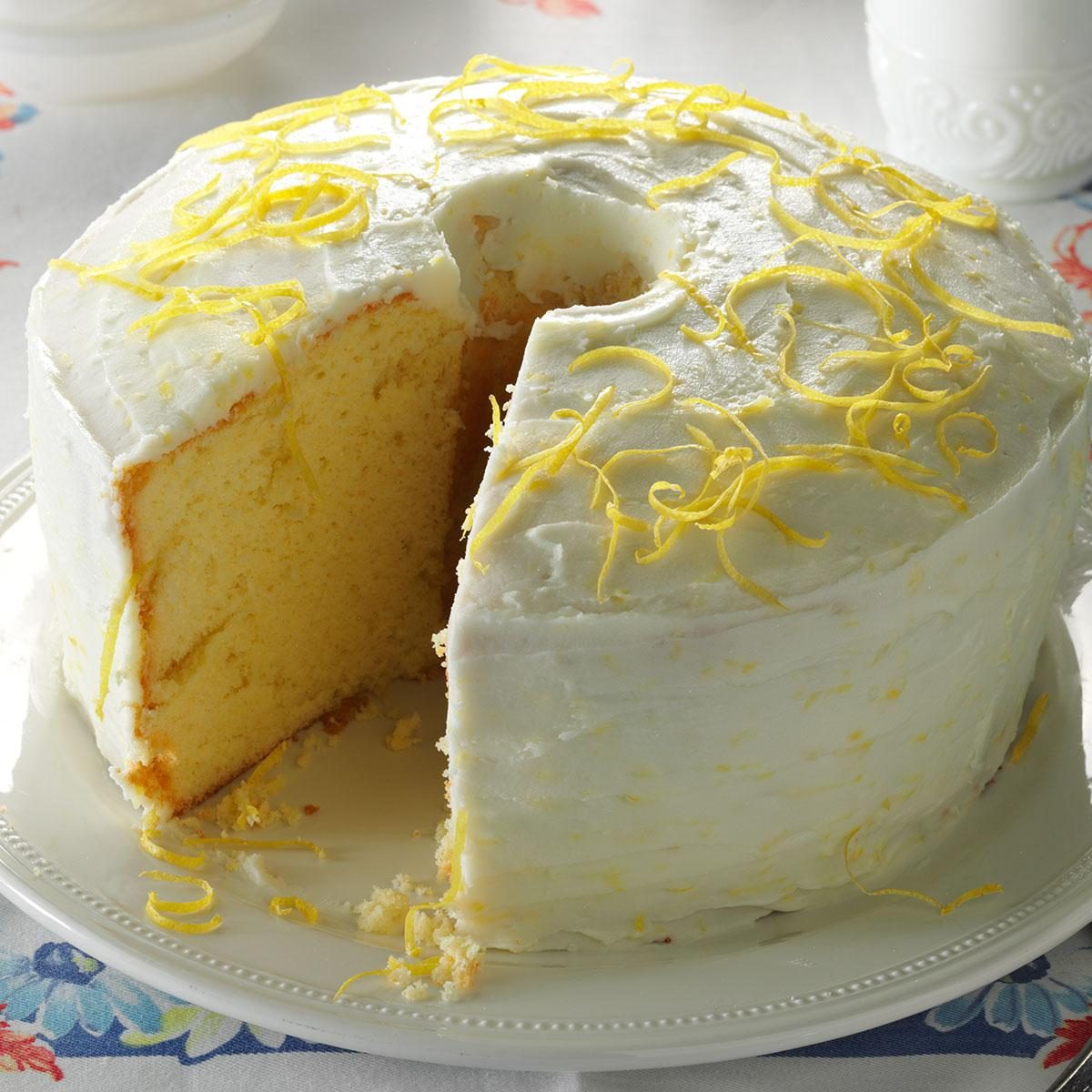 Lemon Chiffon Cake Recipe | Taste of Home