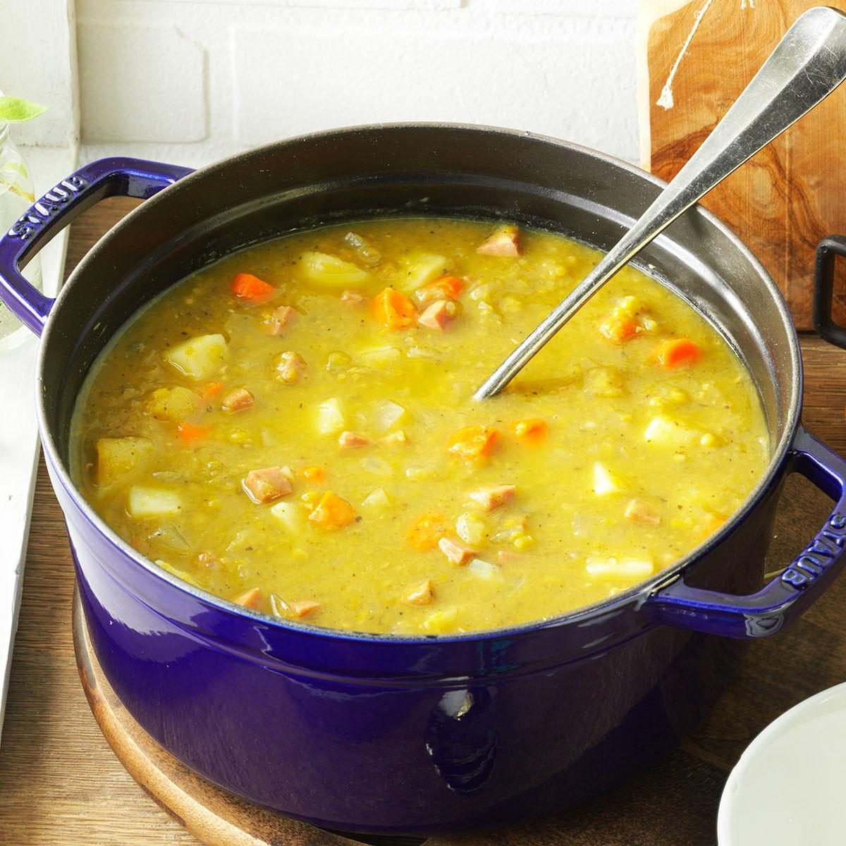 Split Pea Soup With Ham Recipe Taste Of Home