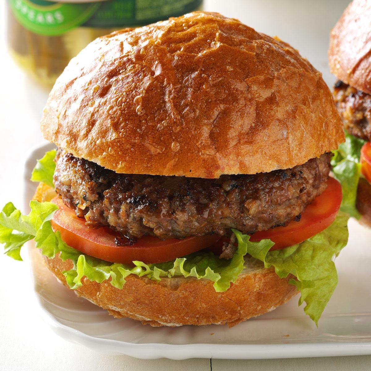 barley beef burgers recipe taste of home. Black Bedroom Furniture Sets. Home Design Ideas