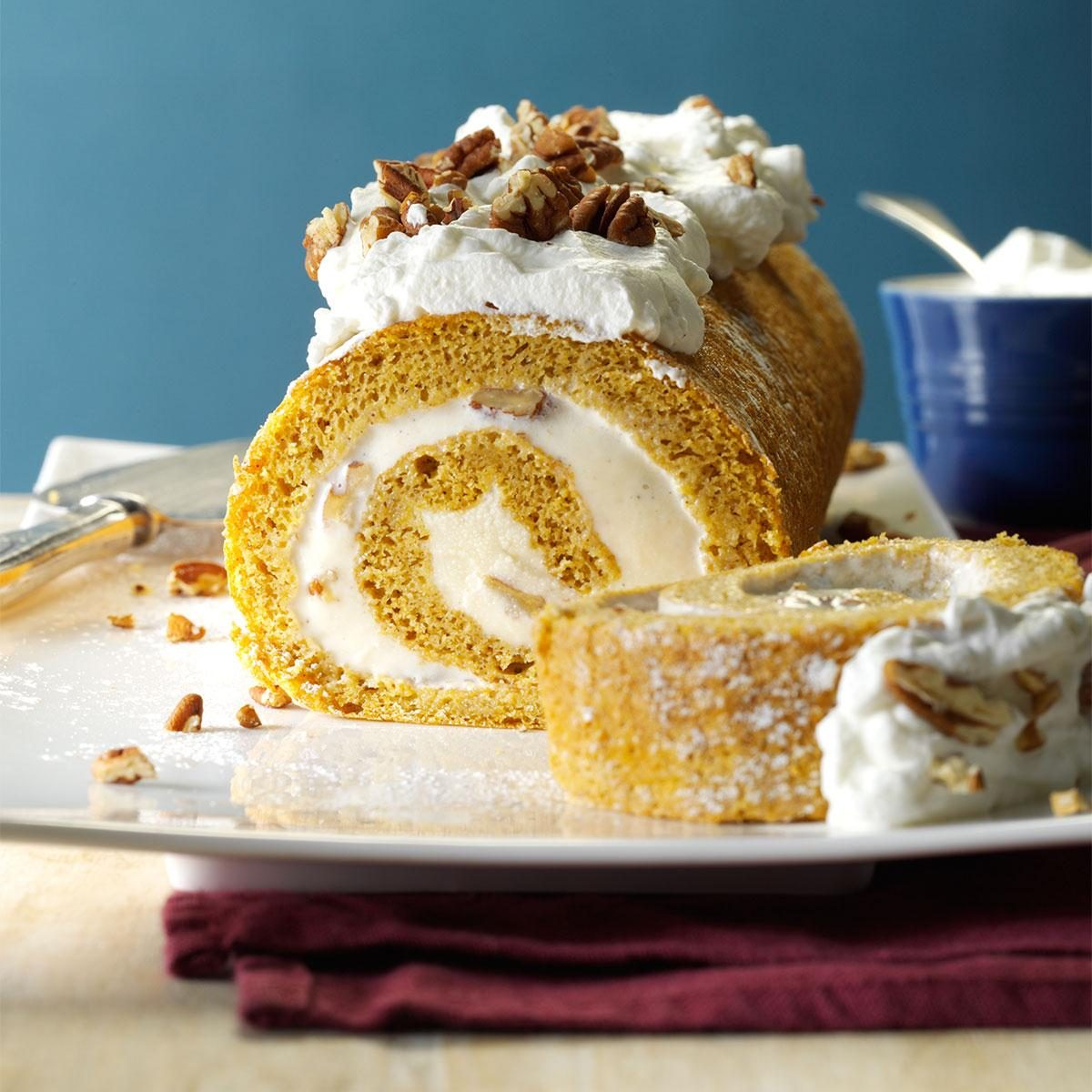 Pumpkin Ice Cream Roll Recipe