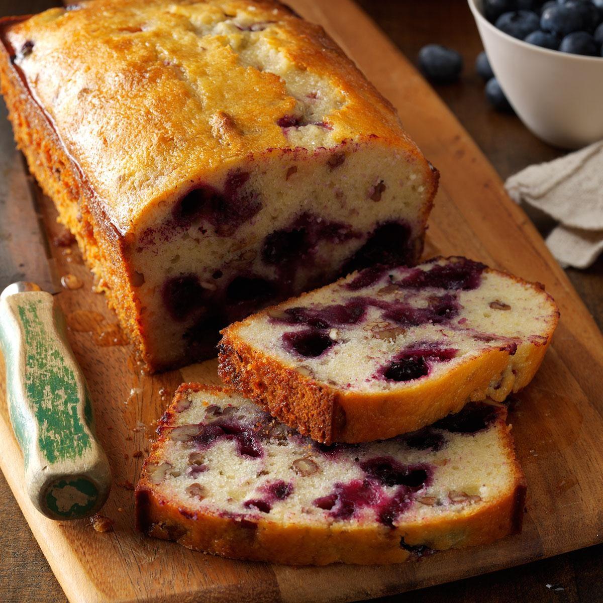 Sour Cream Blueberry Loaf Cake