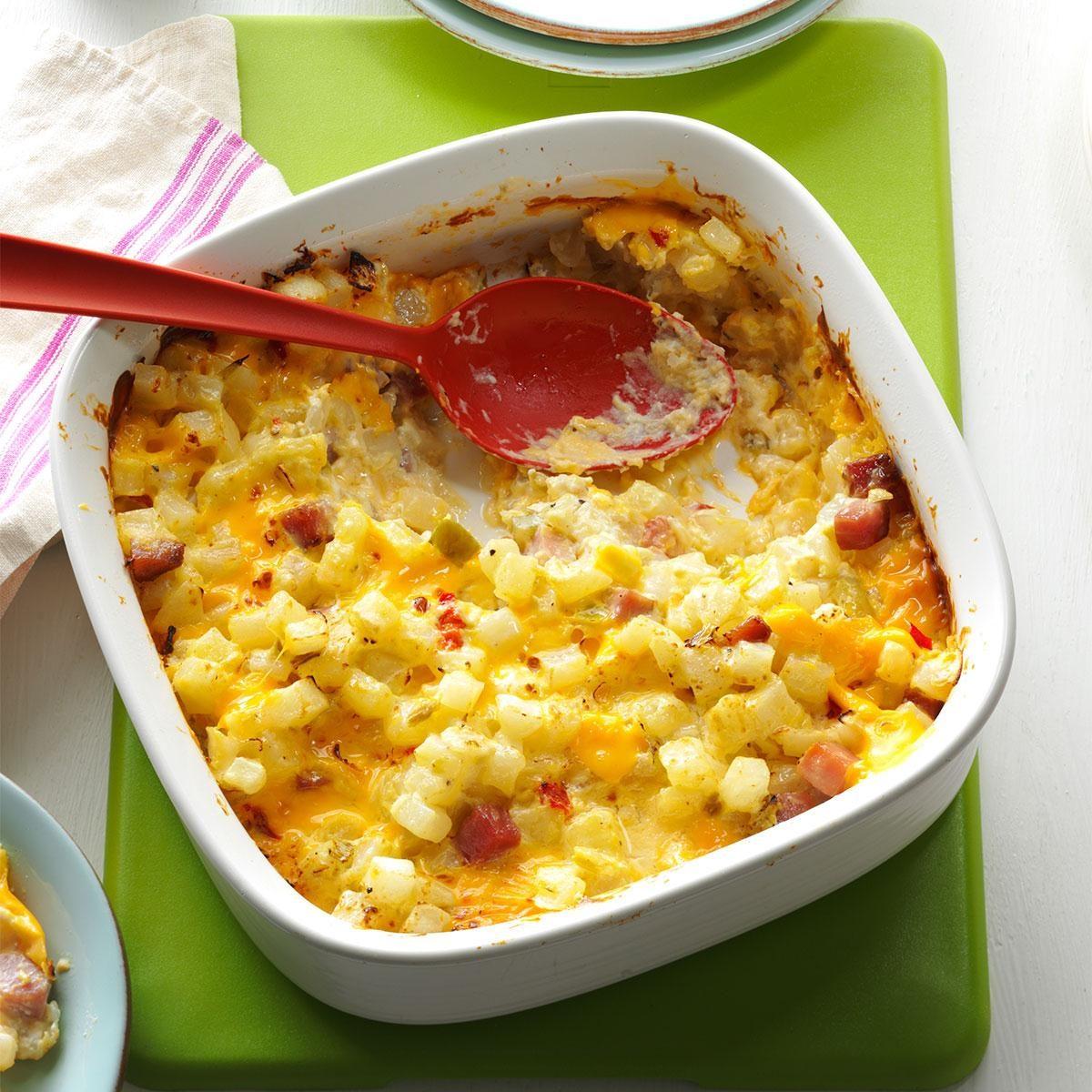 Potato Meal: Ham & Cheese Potato Casserole Recipe