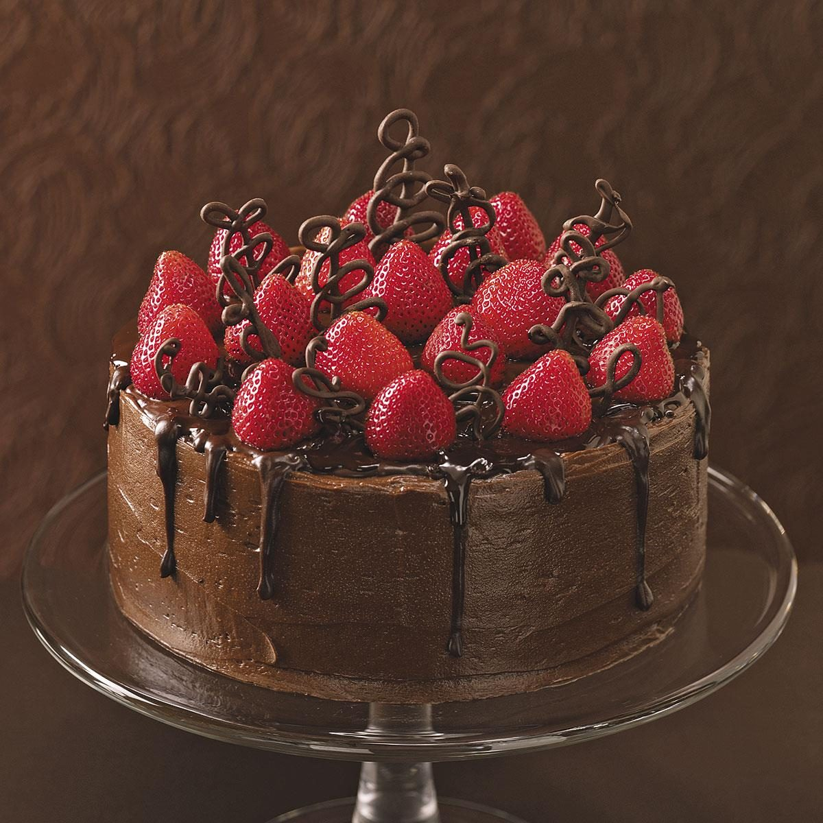Chocolate Strawberry Celebration Cake Recipe Taste Of Home