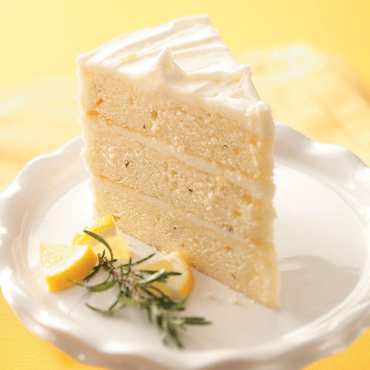 lemon rosemary layer cake recipe taste of home