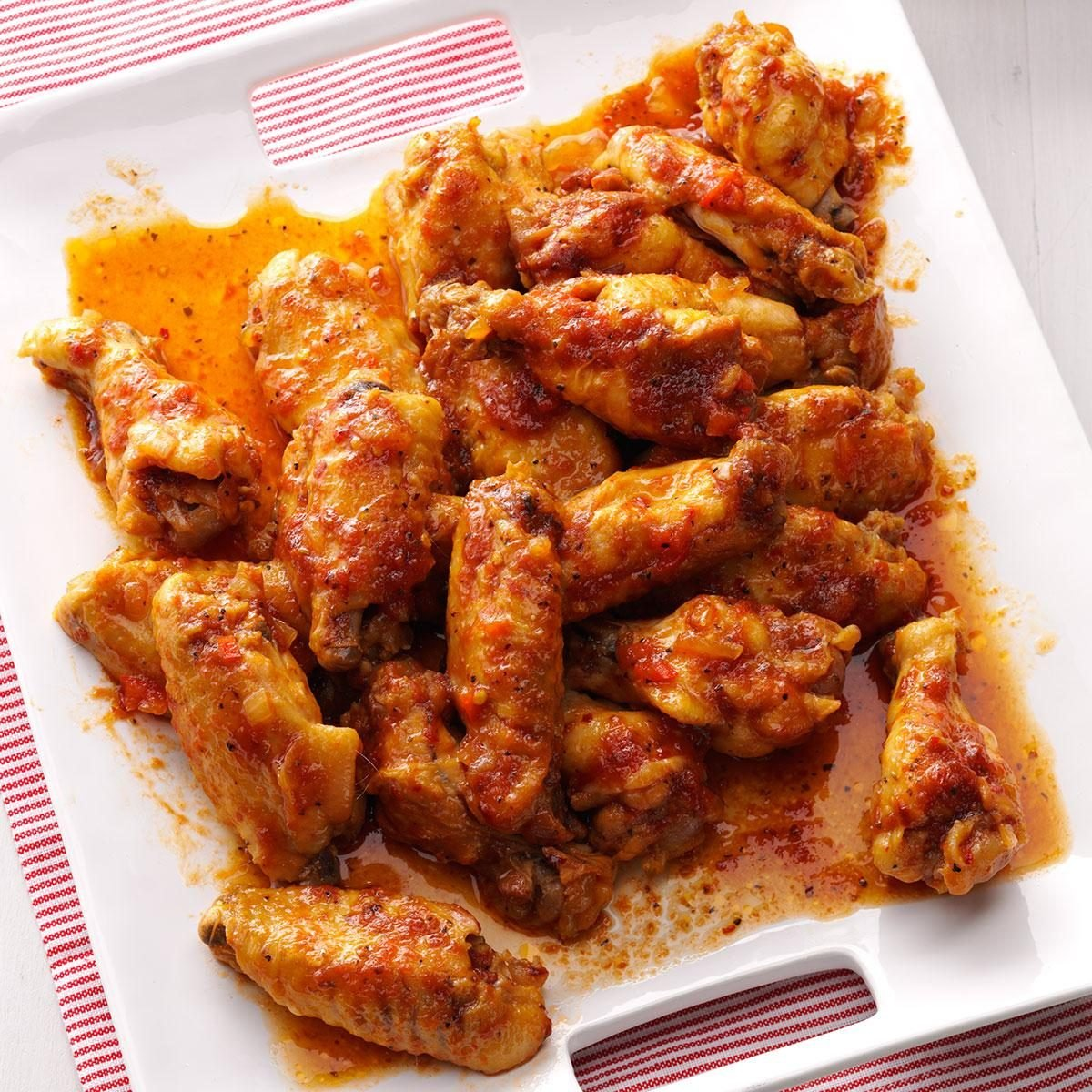 Sweet Amp Spicy Chicken Wings Recipe Taste Of Home