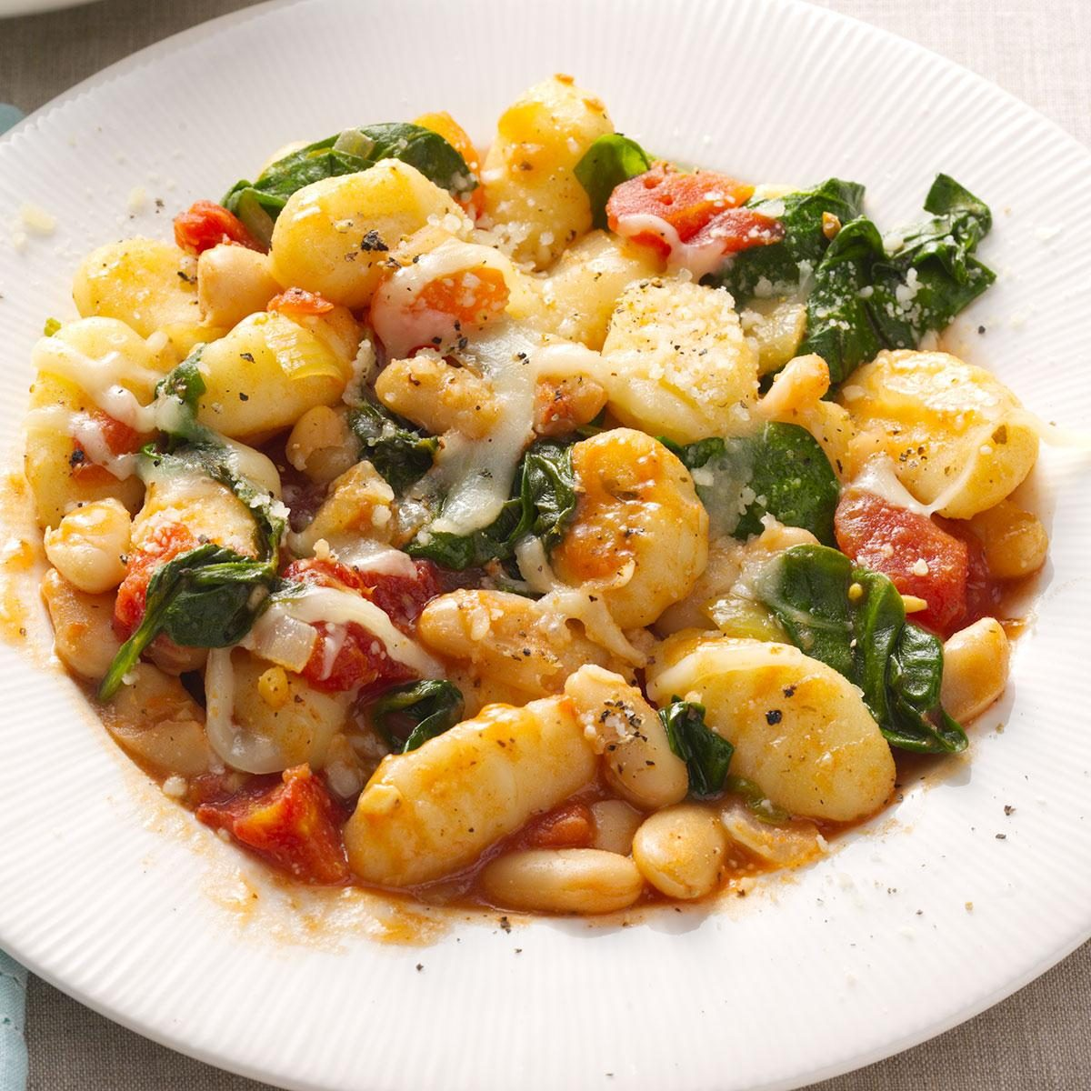Gnocchi with White Beans Recipe | Taste of Home