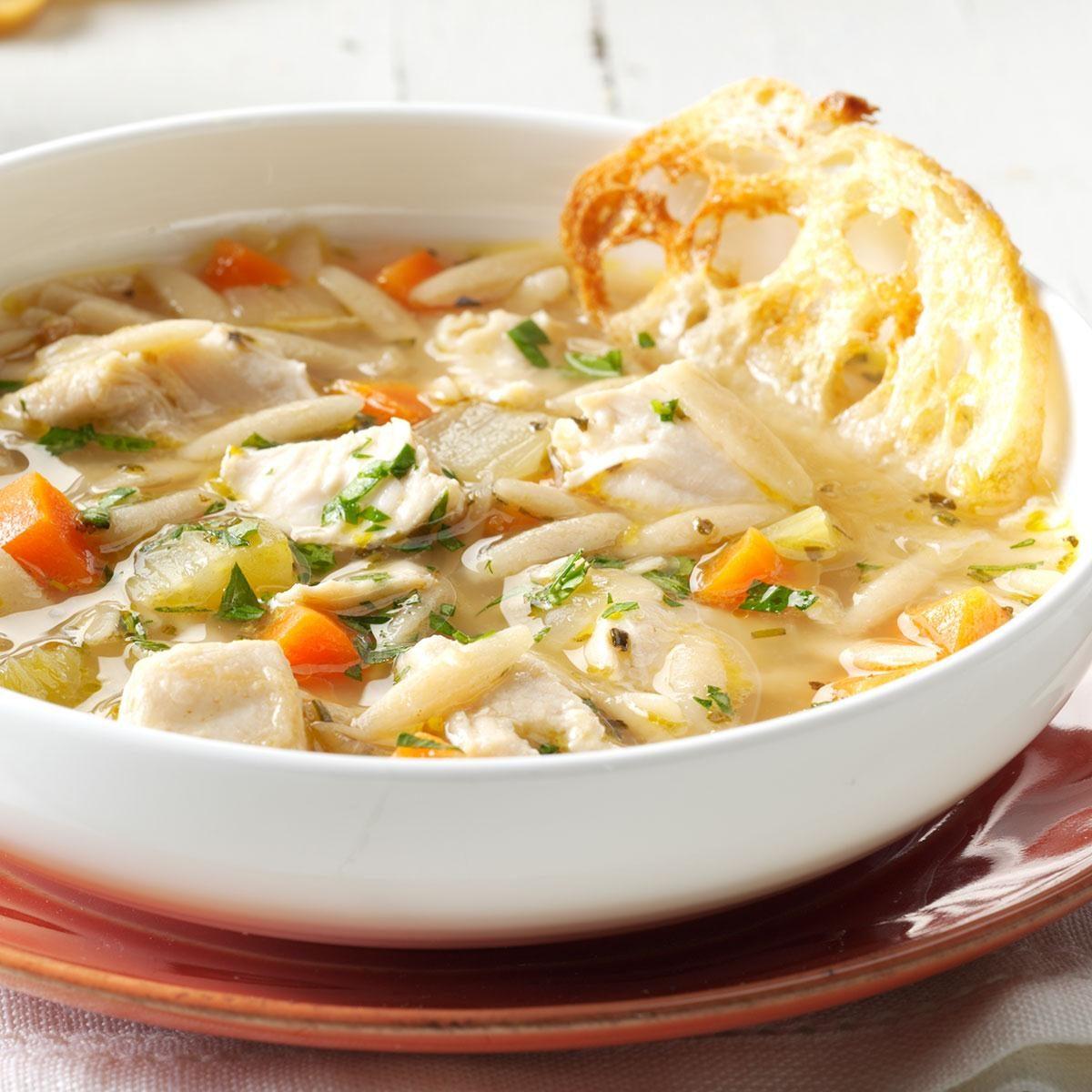 Lemon Chicken Mediterranean Style: Mediterranean Chicken Orzo Soup Recipe