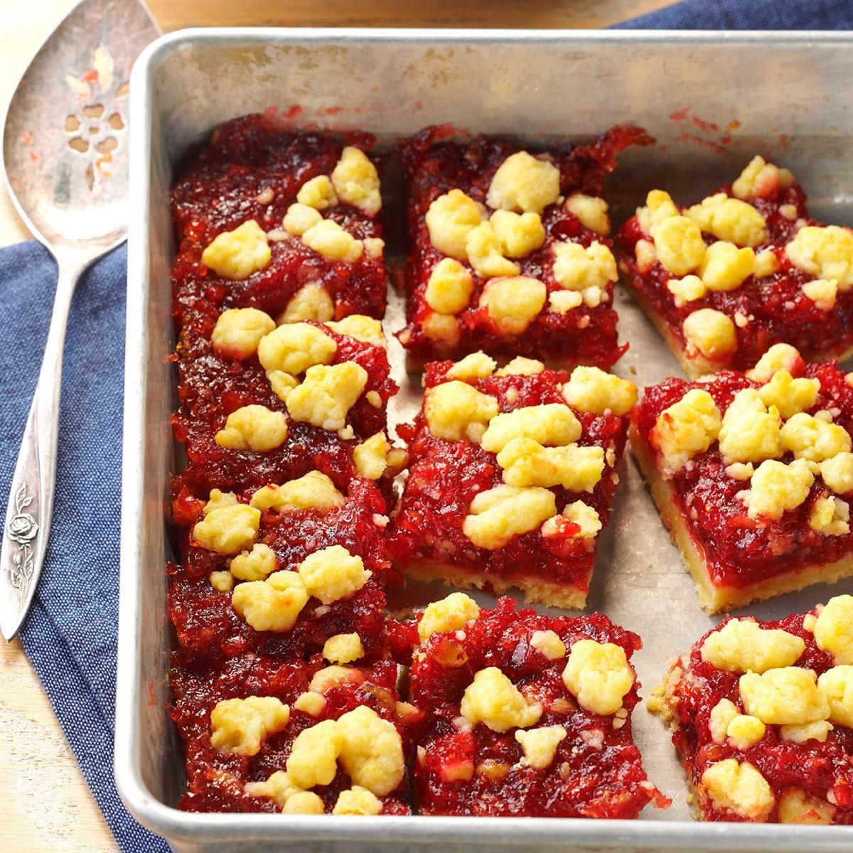 Cranberry orange bars recipe taste of home for Food bar orange