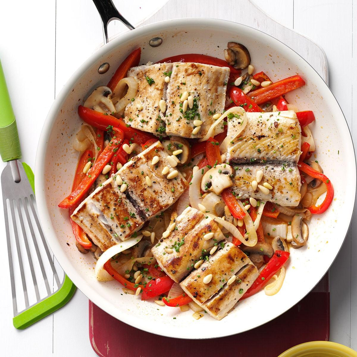 Mahi Mahi & Veggie Skillet Recipe | Taste of Home