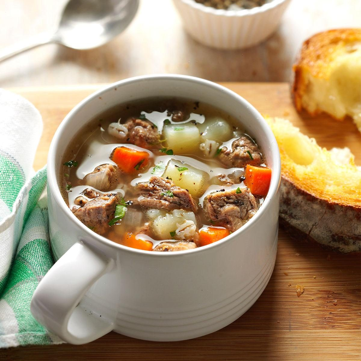 8 More Delicious And Easy Ground Beef Dinner Ideas: Ground Beef Barley Soup Recipe