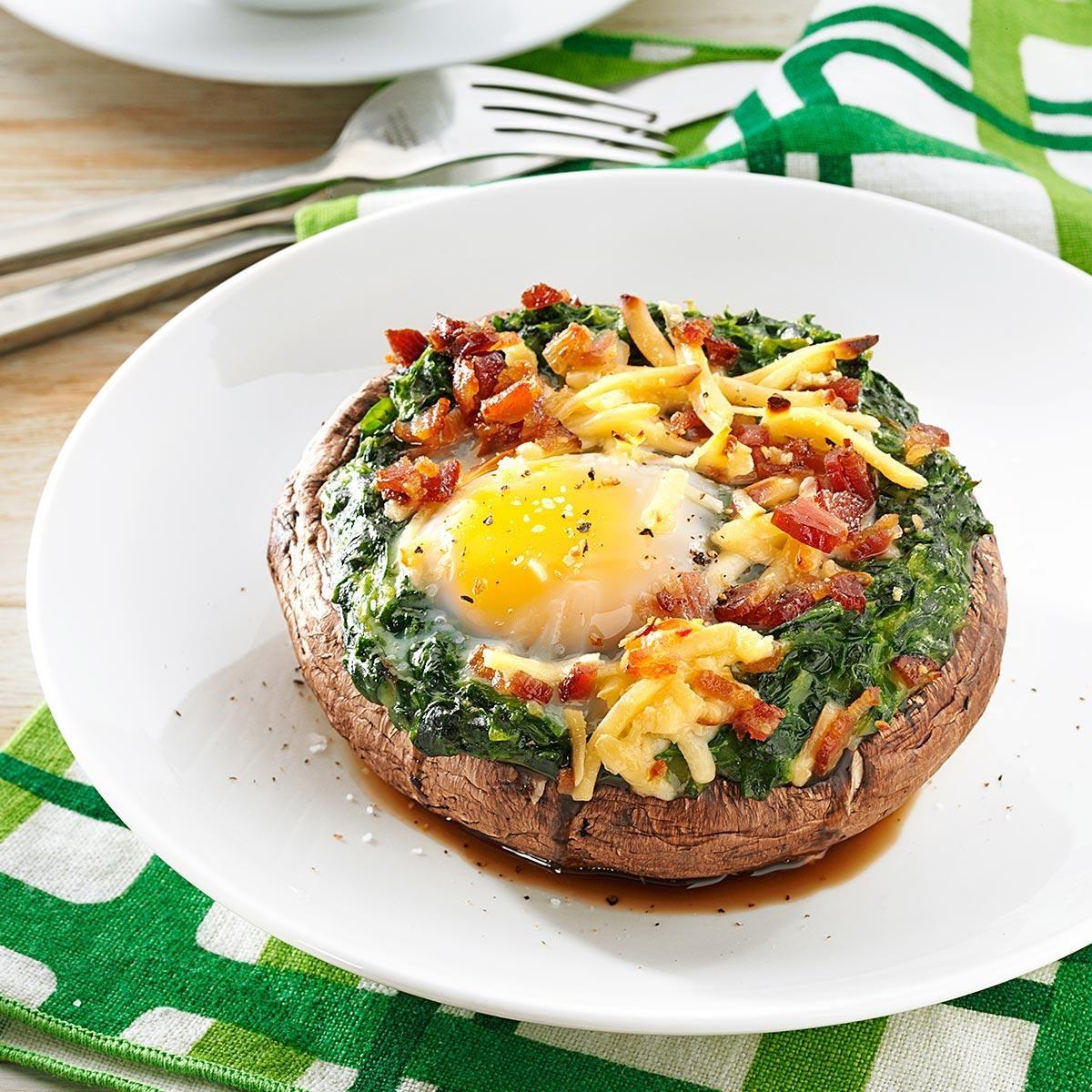 Brunch-Style Portobello Mushrooms Recipe | Taste of Home