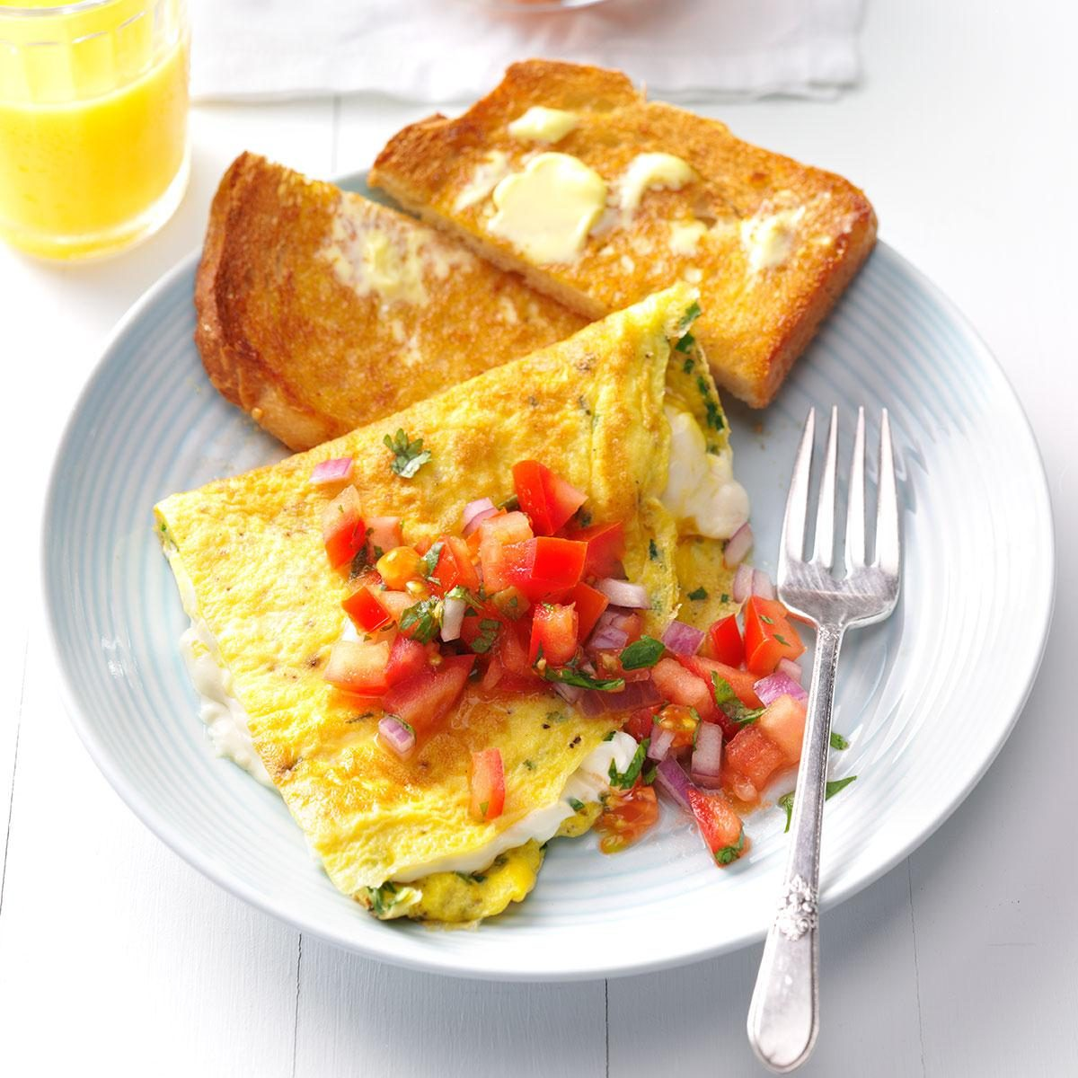Cream Cheese & Chive Omelet Recipe | Taste of Home