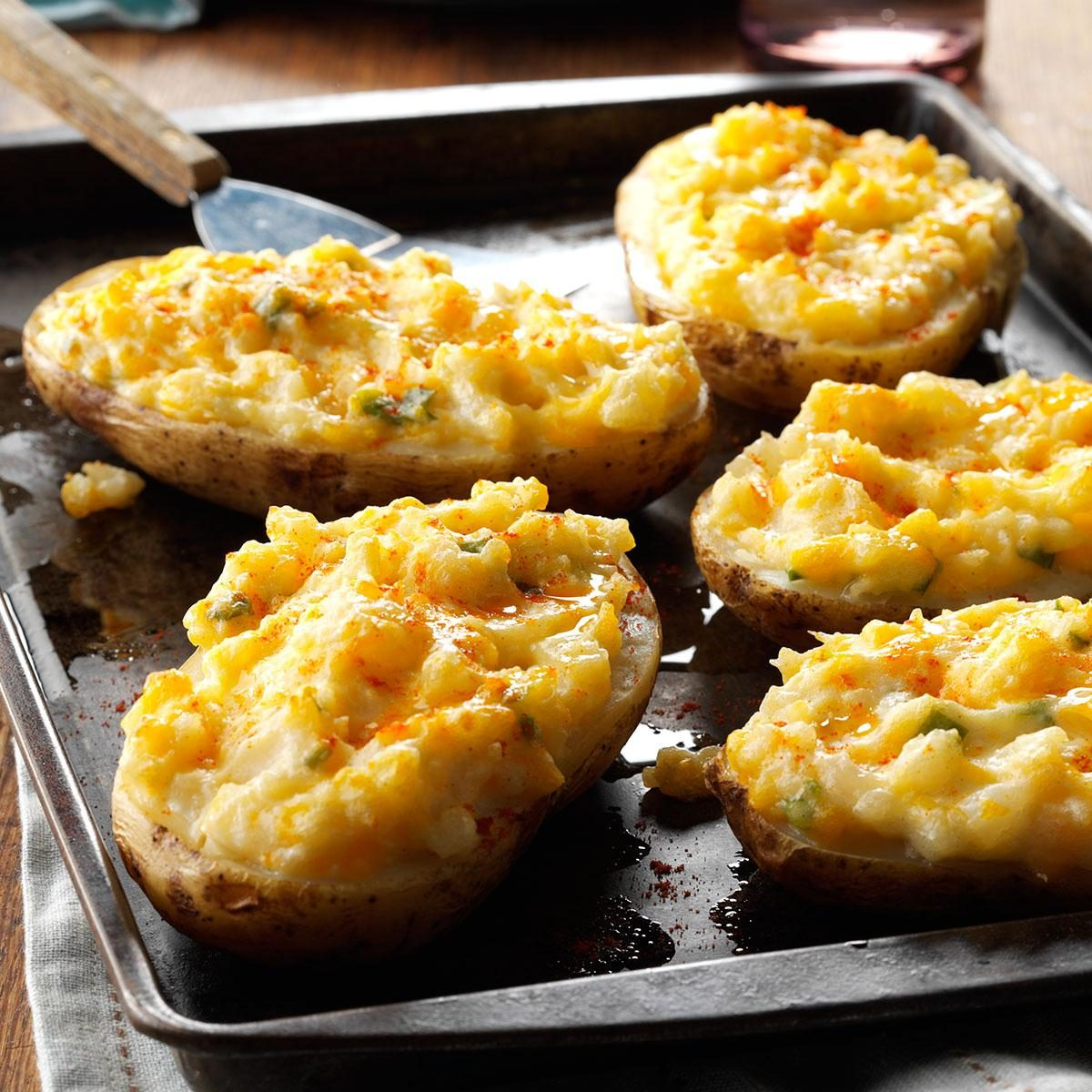 Cheesy Stuffed Baked Potatoes Recipe | Taste of Home