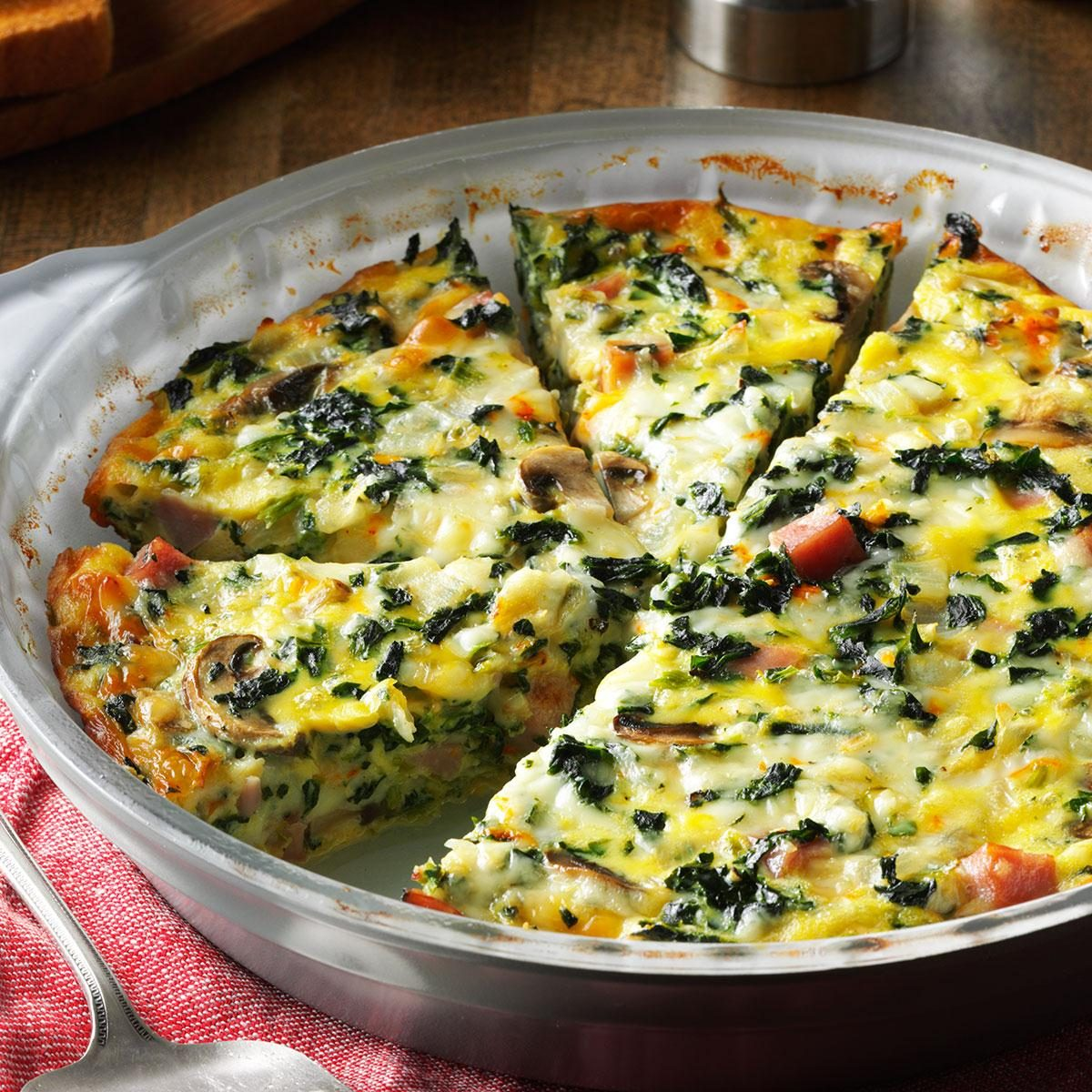 Crustless Spinach Quiche Recipe | Taste of Home