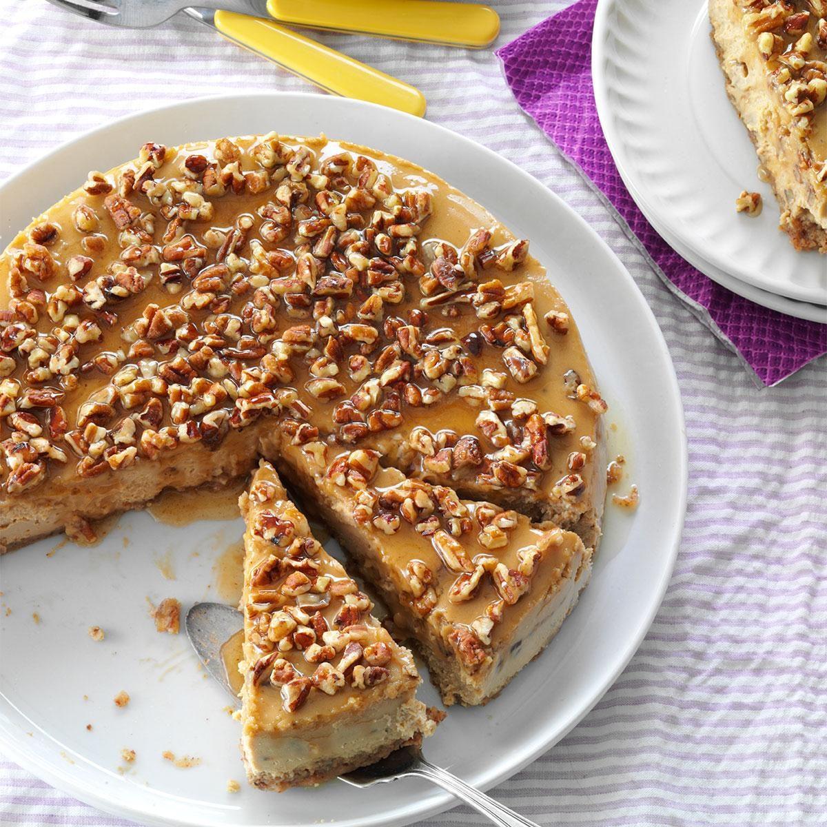 Honey Pecan Cheesecake Recipe | Taste of Home